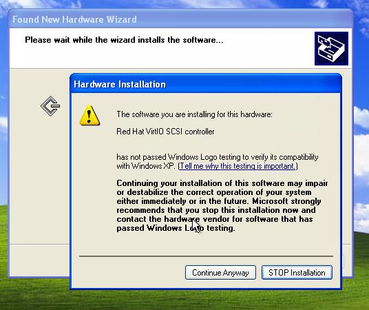 Virtualize a broken Windows XP machine with KVM or Xen
